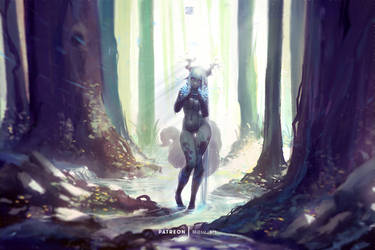 AEYRIA Scouting the Forest by MitsuArt-official