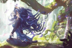 Lucina takes a break after battle (Mitsu)
