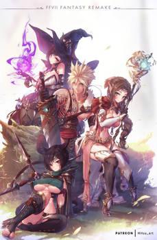 My Final Fantasy VII remake in a fantasy World