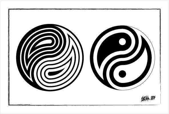 Yin Yang x2 by Ugghhzilla on DeviantArt