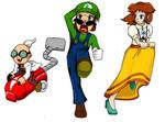 Gadd Luigi and Daisy