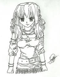 Curly Anime Character by blackfilter