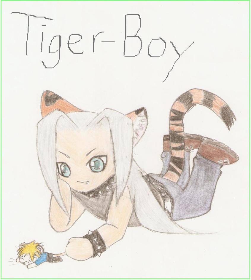 Cute Chibi Tiger Chibi Tiger Boy Sephiroth by