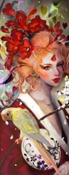 Japanese conure. by SuarezGuillen-art