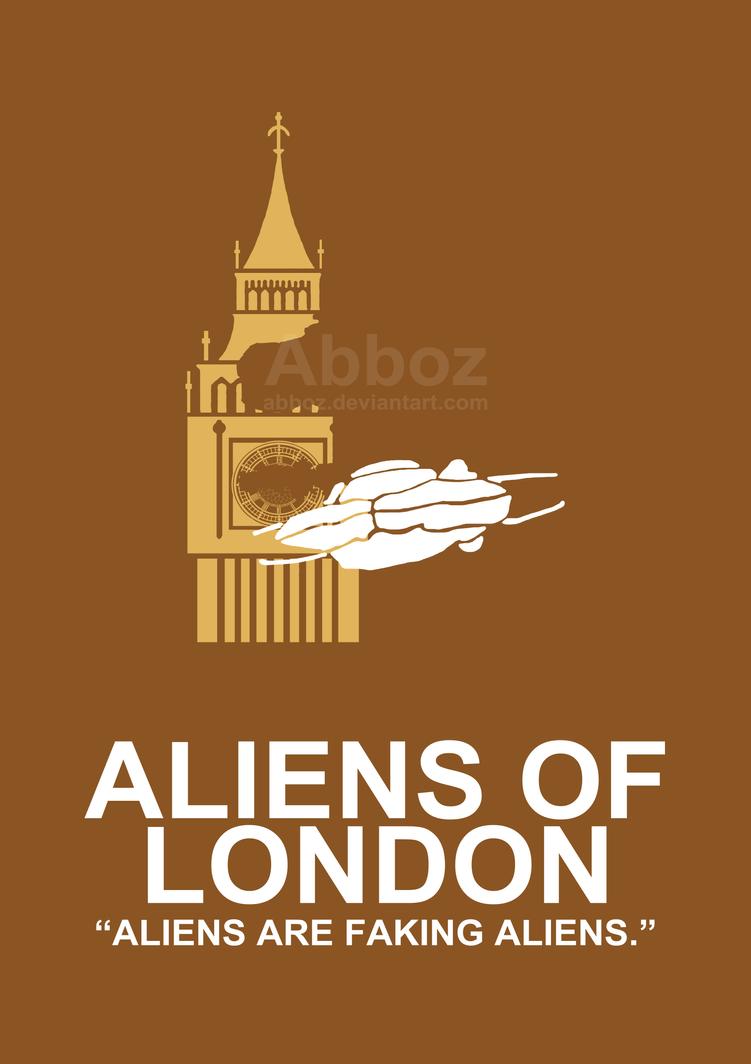 Minimalist 39 aliens of london 39 poster by abboz on deviantart for Minimal art gallery london