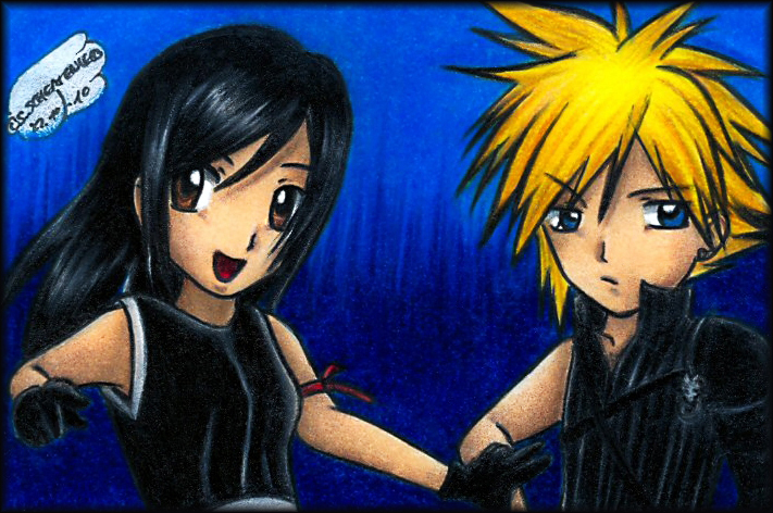 come on Cloud smile for the camera by Xx-Syaoran-kun-xX