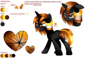 [MLP] OC Amber (new reference sheet) by AmberPone