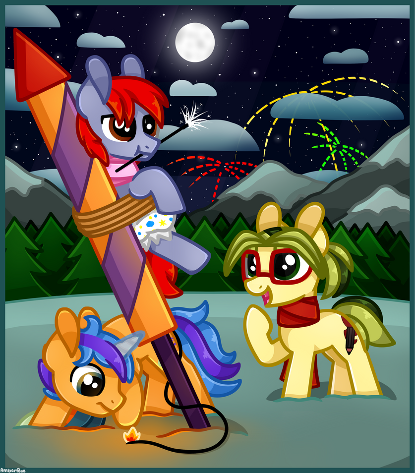 [MLP] Fireworks by AmberPone