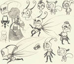 Sum more Invader Zim sketches (school scribbles) 3 by AmberPone