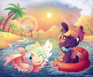 [MLP] Beach summer fun buddies (contest entry) by AmberPone