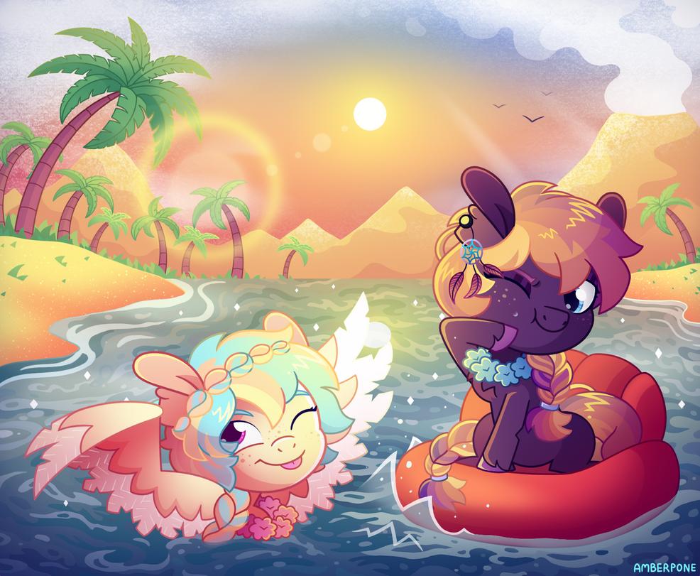 [MLP] Beach summer fun buddies (contest entry)