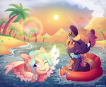 [MLP] Beach summer fun buddies (contest entry) by AmberPone