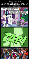 Comic: Rarity Goes To A Brony Convention [Spanish]