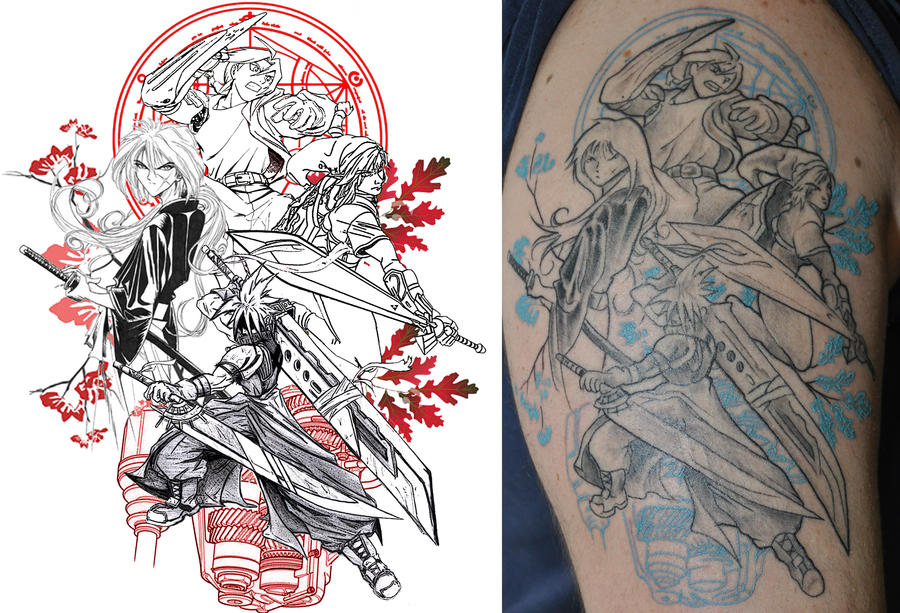 Anime-VideoGame Tribute Tattoo By VanessaVelez On DeviantArt