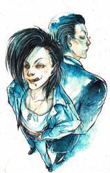 The twins by Tatsumi-sama