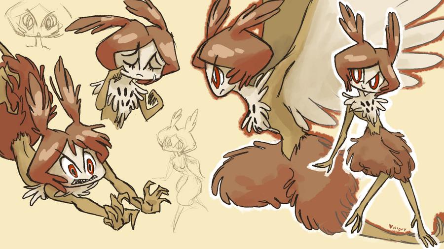 owl harpy by littlenicky