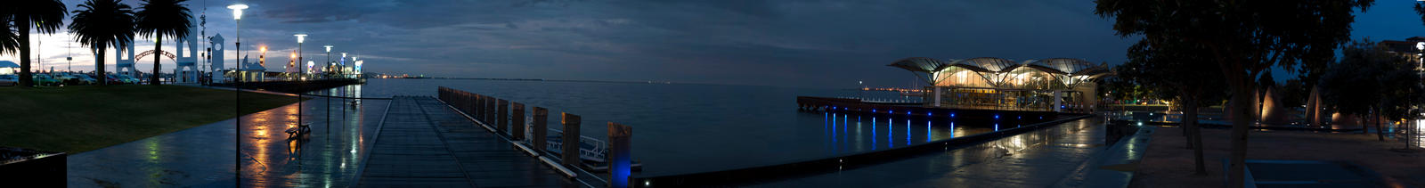 Waterfront Panorama By Night by solkee