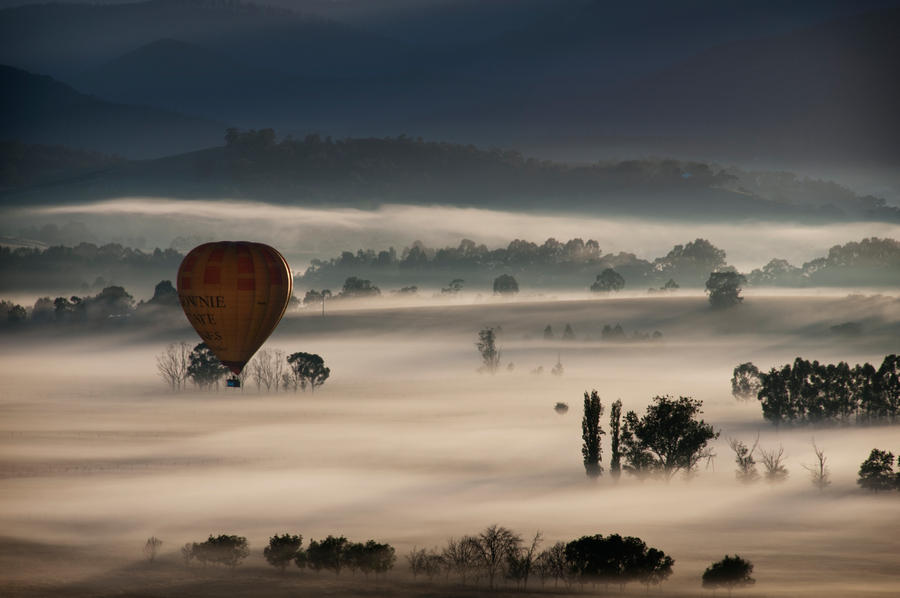 Ballooning In The Mist by solkee