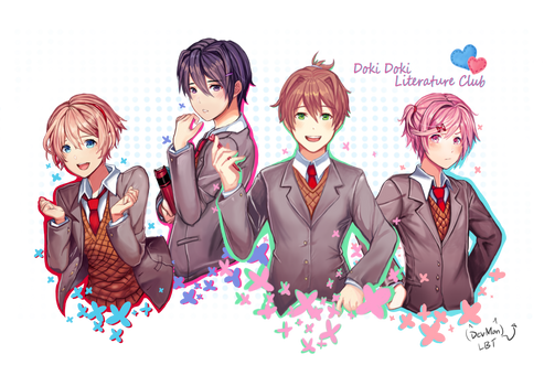 Doki Doki Literature Club Genderbend by Lovebirdtreat