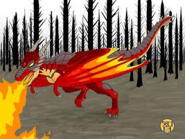 Fire Dragon by Kairu-Hakubi