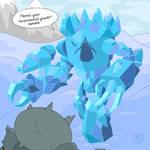 Ice Colossus vs Bucket Knight