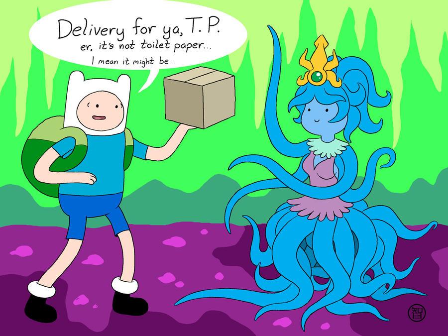 Finn meets Tentacle Princess by Kairu-Hakubi