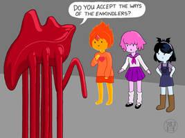 The Girls Meet a Hanar by Kairu-Hakubi