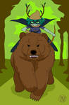 Bear Rider Huntress Wizard