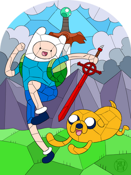 Finn And Jaked Glass