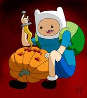 Pumpkin Time - Finn by Kairu-Hakubi