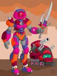 PB's Cyber Gumdrop Mech and Ladymint Tank MKII