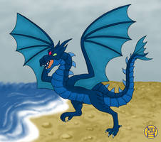 Splash Dragon by Kairu-Hakubi