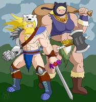 Barbarian Couple by Kairu-Hakubi