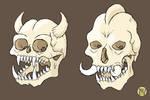 Goblin and Troll Skulls
