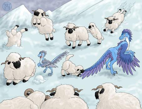 December Sheep featuring Bonus Dragons