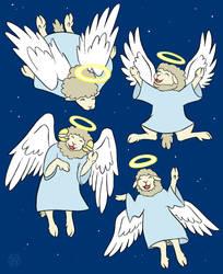 Angels We Have Herd on High by Kairu-Hakubi