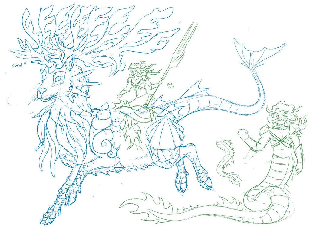 Questri - Seamaster and Kiirus by Kairu-Hakubi