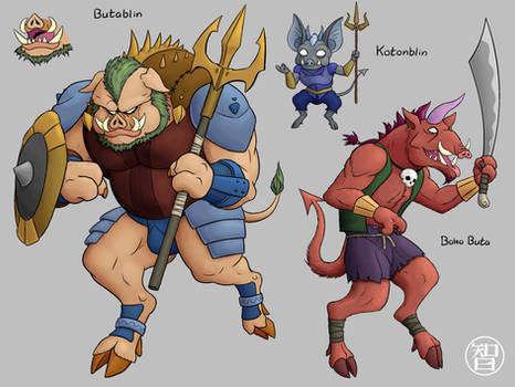 Zeldamon - Butablin Family by Kairu-Hakubi