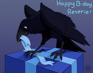 Birthday Raven by Kairu-Hakubi