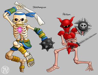 Zeldamon - Stalchampion and Paltam by Kairu-Hakubi