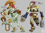 Zeldamon - Stalknuck and Degu Stalknuck