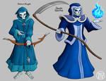 Zeldamon - Dokuro Knight and Death Stalfos by Kairu-Hakubi