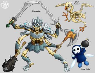 Zeldamon - Stalmaster, Skull Cocco, and Hone Pata by Kairu-Hakubi