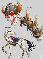 Zeldamon - Dosubone and Stalhorse by Kairu-Hakubi