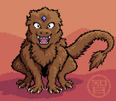 Fierce Dragon pixel