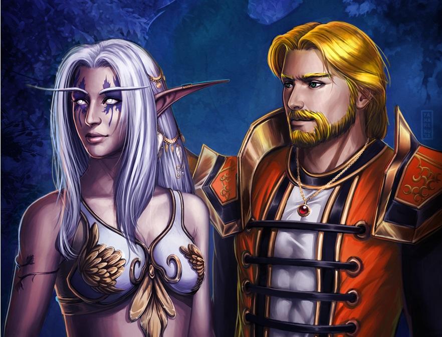 Aerithine and Reynalden by Shadow-Wolfen