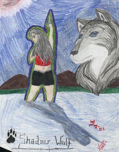 Shadow Wolf by Shadow-Wolfen