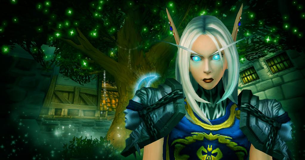 Nevari Moonleaf, the Banshee of Kaldrassil by Shadow-Wolfen