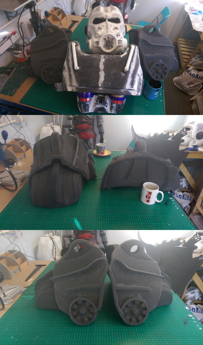 Fallout 4 T60 Power Armour Shoulders WIP by KnoxyMcKnox