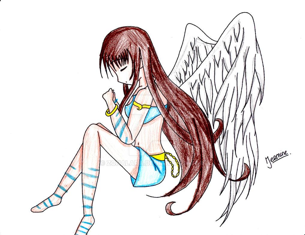 Anime Angel Girl By ZonaLara